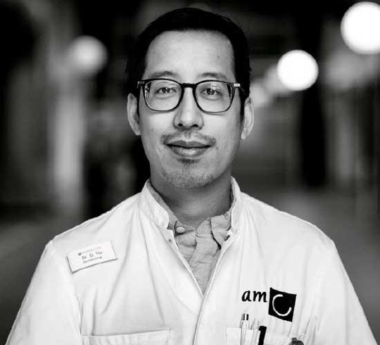 Dr. Darry Tio is gepromoveerd op Lentigo maligna © Sven Scholten